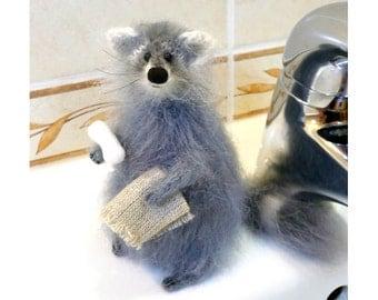 Stuffed Animal Raccoon Amigurumi Raccoon Toys Stuffed Raccoon