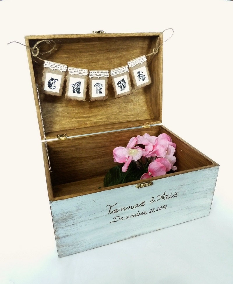 Wedding Card Boxes For Receptions: Rustic Wedding Card Box Holder Wedding Reception Decor Wooden