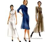 2000s VOGUE DRESS PATTERN Front Zipper A-Line Fit & Flare Dress Patterns Vogue 7794 UNCuT Womens Misses Petite Sewing Patterns Bust 34 36 38