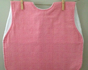 Girl SmickSmock Bib in Feathered Pink