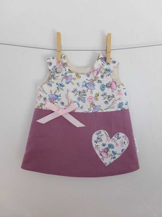 infant fairy dress pink purple baby summer dress bow spring