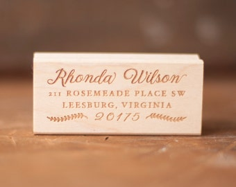 Rustic return address stamp, rubber stamp, wedding stamp, stationery, invitations, custom stamp, custom address stamp, typography, unique