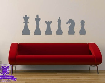 Chess Pieces Wall Decal Decor
