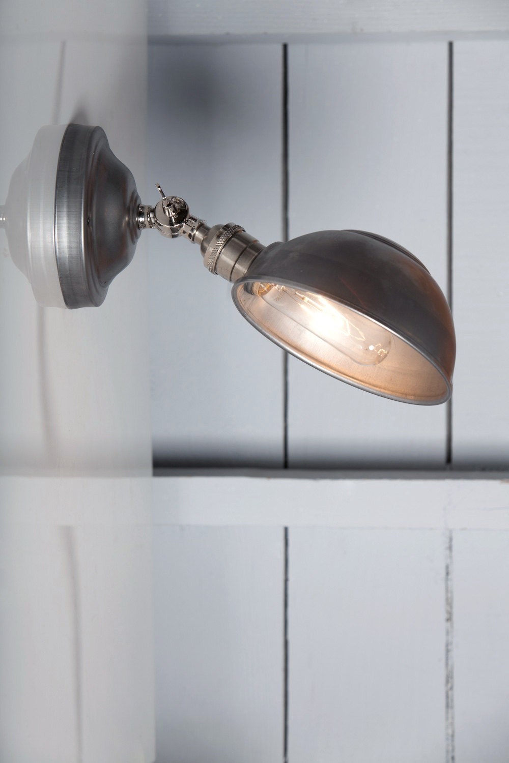 Industrial Lighting Metal Shade Wall Sconce Angled Lamp