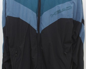 "Rare 80's Vintage ""HEAD"" Windbreaker Jacket Sz: LARGE (Men's Exclusive)"
