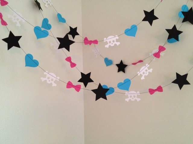 Monster high party decoration paper garland by classicbanners - Paper decorations for room ...