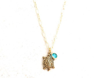 Gold turtle necklace etsy sea turtle necklace gold turtle pendant sea life jewelry beachy honu aloadofball Image collections