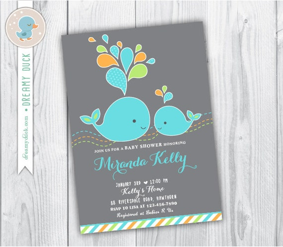 baby shower whale invitation whale baby shower invitation whale