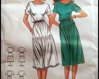 "Butterick 3134  Misses' Dress, Top And Skirt  Bust 42"""