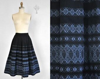 Vintage 1950's Pleated Wool Austrian Skirt