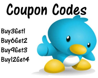 COUPON CODES - Read Me!