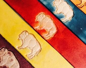 Leather Bookmark - American Bison / Buffalo