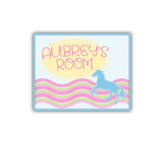 Girls room sign kids personalized name sign girls by for Signs for little girl rooms