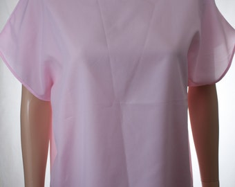 Vicki Wayne's Pink Lightweight Sheer Lightweight Blouse Top | Made in USA | Size 16