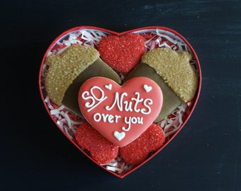 So NUTS over you! Valentine's Cookie Gift Box