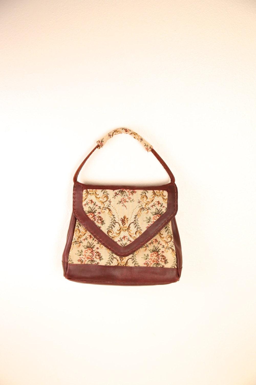 Vintage Tapestry Handbag Carpet Bag Boho Carpet Bag