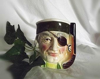 Vintage Toby Mug Pirate Mug Pirate Figurine Character Mug Man Cave Decor Pencil Holder Collectible Pirate Toby Jug Pistol Handle Eye Patch
