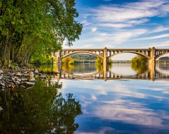 The Veterans Memorial Bridge over the Susquehanna River