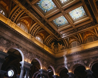 The interior of the Library of Congress, Washington, DC - Urban Architecture Photography Fine Art Print or Wrapped Canvas