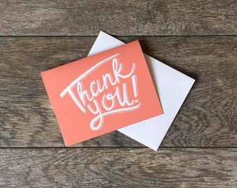 Thank You Greeting Card Pink