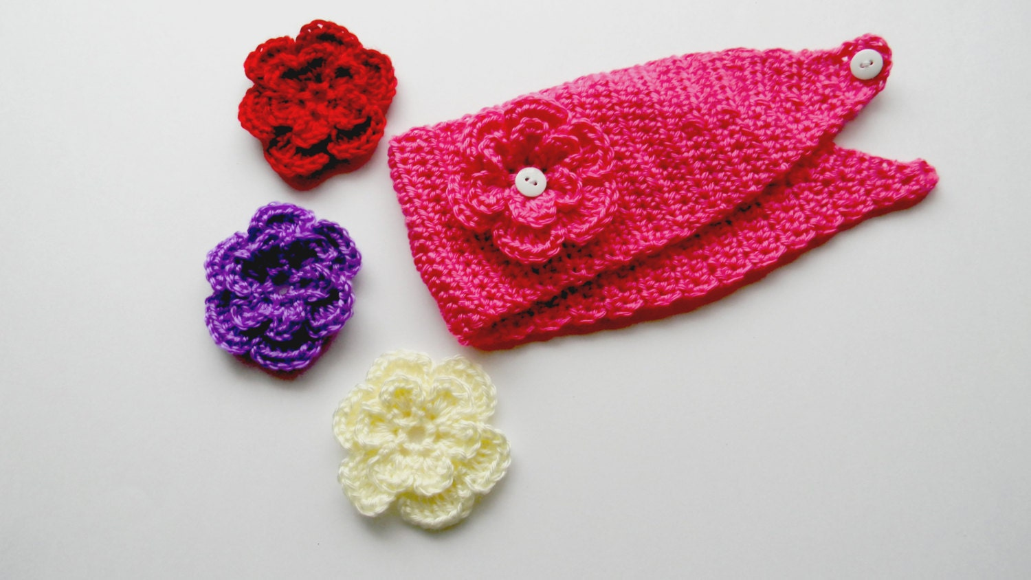 Crochet Patterns Head Warmers : Crochet pattern: Headband ear warmer Head wrap Ear by Leesorigami