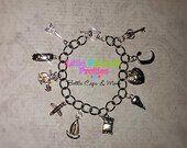 Charm Bracelet Fifty Shades Inspired FSOG Ana's Birthday Gift Replica Bracelets 10 Charms