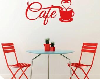 Cafe Kitchen Wall Sticker Decal QU500