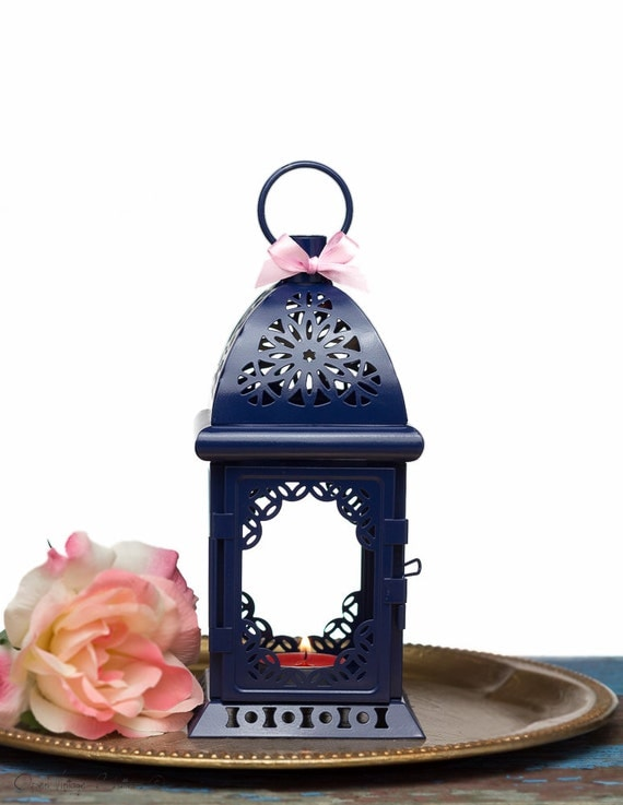 Nautical Wedding Centerpiece Decor-Navy Blue Wedding Lantern