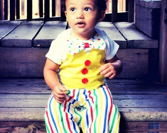 Baby/Toddler Birthday outfit, Clown Birthday Outfit, circus cake smash, clown pants, clown costume, clown Cake Smash.Halloween clown costume