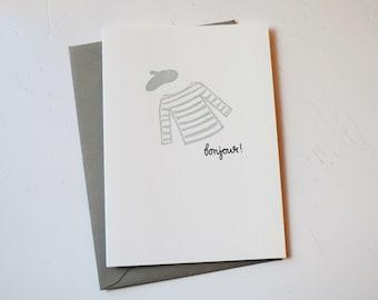 Bonjour! Handmade Card