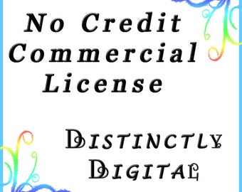 """No Credit Needed Commercial Use License for """"Distinctly Digital"""""""