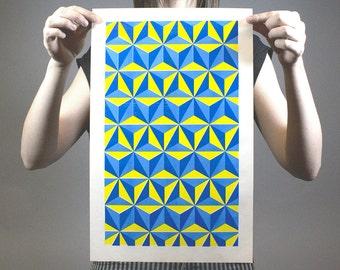 Triangle City 2 | Risograph Print