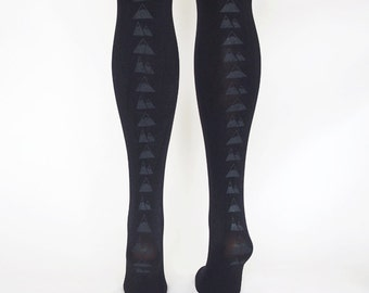 hand printed black mountain tights *sale*