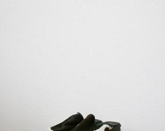 80s cowhide slip heels   Size 7