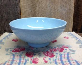 Vintage Haeger Pottery bowl, Haeger Pottery USA 101 Turquoise Blue Bowl.