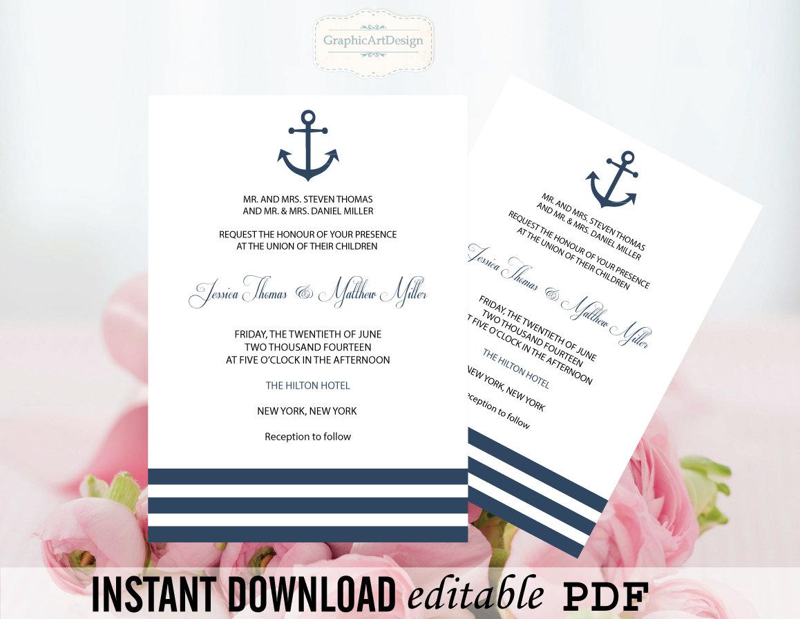Nautical Wedding Invitation Wording: Chandeliers & Pendant Lights