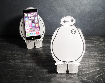 Baymax - Big Hero 6 - Universal Smart Phone Stand iPhone Dock - Fits iPhone 6, iPhone Plus, iPhone 5 or 4, Android, Samsung Galaxy S3 S4 S5