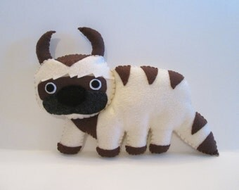 Appa Plush Inspired by Avatar The Last Airbender, Flying Bison Plushie