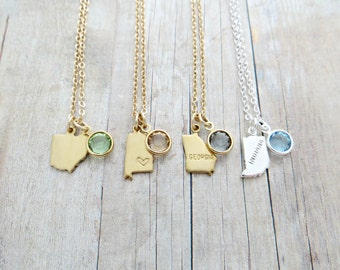 Add On Swarovski For State Charm Personalized Necklace (For Purchases from Indie Etc™)