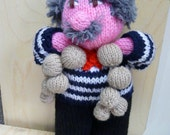 Hand Knitted 'french man'