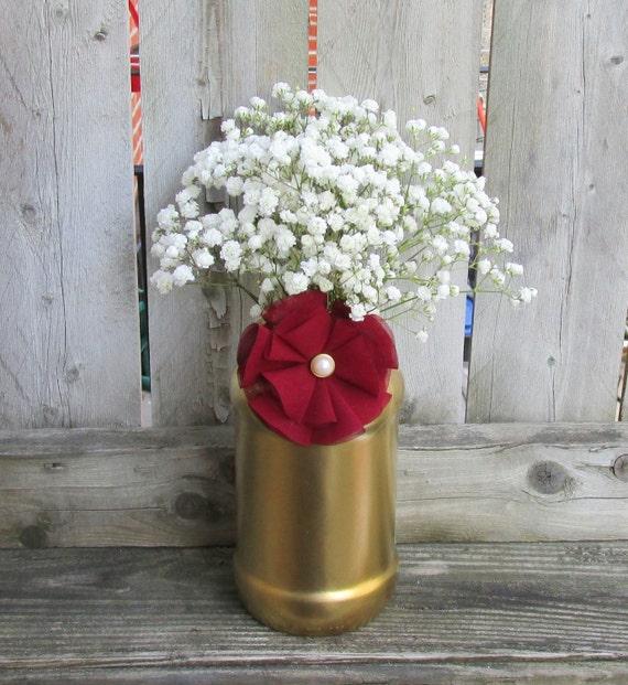 Burgundy And Gold Wedding Decorations: Metallic Gold And Marsala Wedding / By CarolesWeddingWhimsy