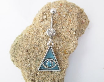 Osiris triangle belly button ring