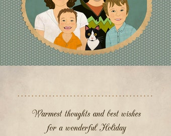 Christmas or Holiday card, Thank you card, family portraits. Only digital file.