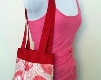 Red Pink Narwhal Ocean Animal Tote Bag