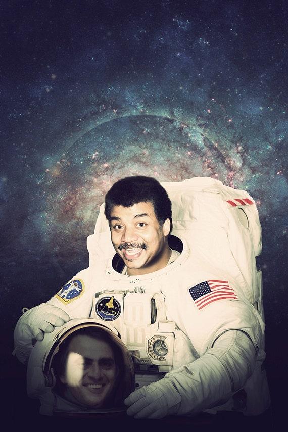 Neil deGrasse Tyson Astronaut Poster, An Intelligent Space Print