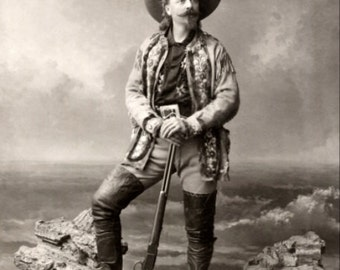 Buffalo Bill Cody 1800s Historical Wild West Photograph - DIGITAL DOWNLOAD
