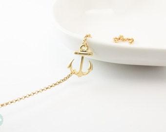 Anchor bracelet, gold anchor, cute bracelet, charm bracelet, anchor, chain bracelet, gold bracelet, friendship bracelet, anchor charm,anchor