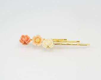 Flower Bobby Pin, flower hair pin, spring hair pin, spring bobby pin, hair pin for kid, floral hair pin, bobby pin