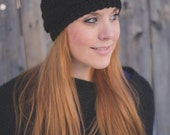 Chunky Cabled Headband - Black