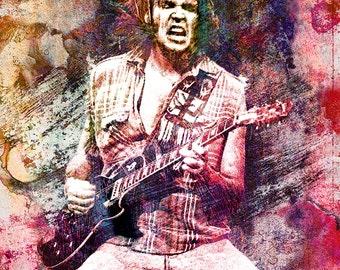 Neil Young Art, Original Painting Art Print